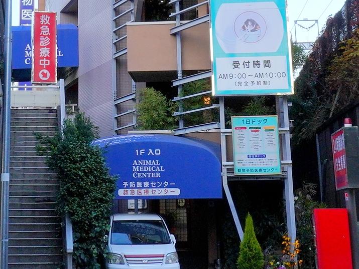 神奈川県川崎市中原区の高度救急動物病院救急入り口
